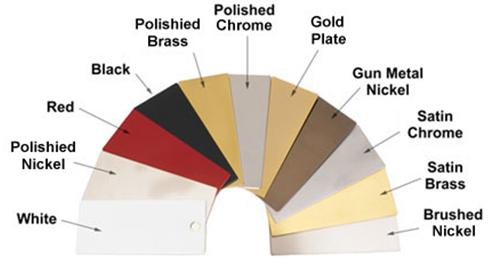 Shower Door Hardware colours
