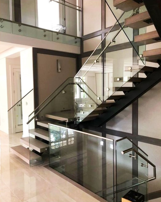 glass railing residential vancouver