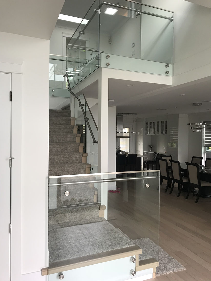 residential glass stair railing project