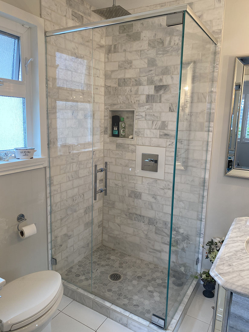 residential frameless shower project