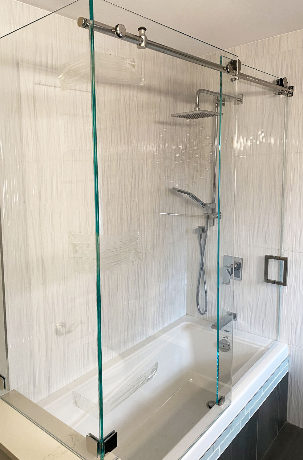 shower tub enclosure delta glass