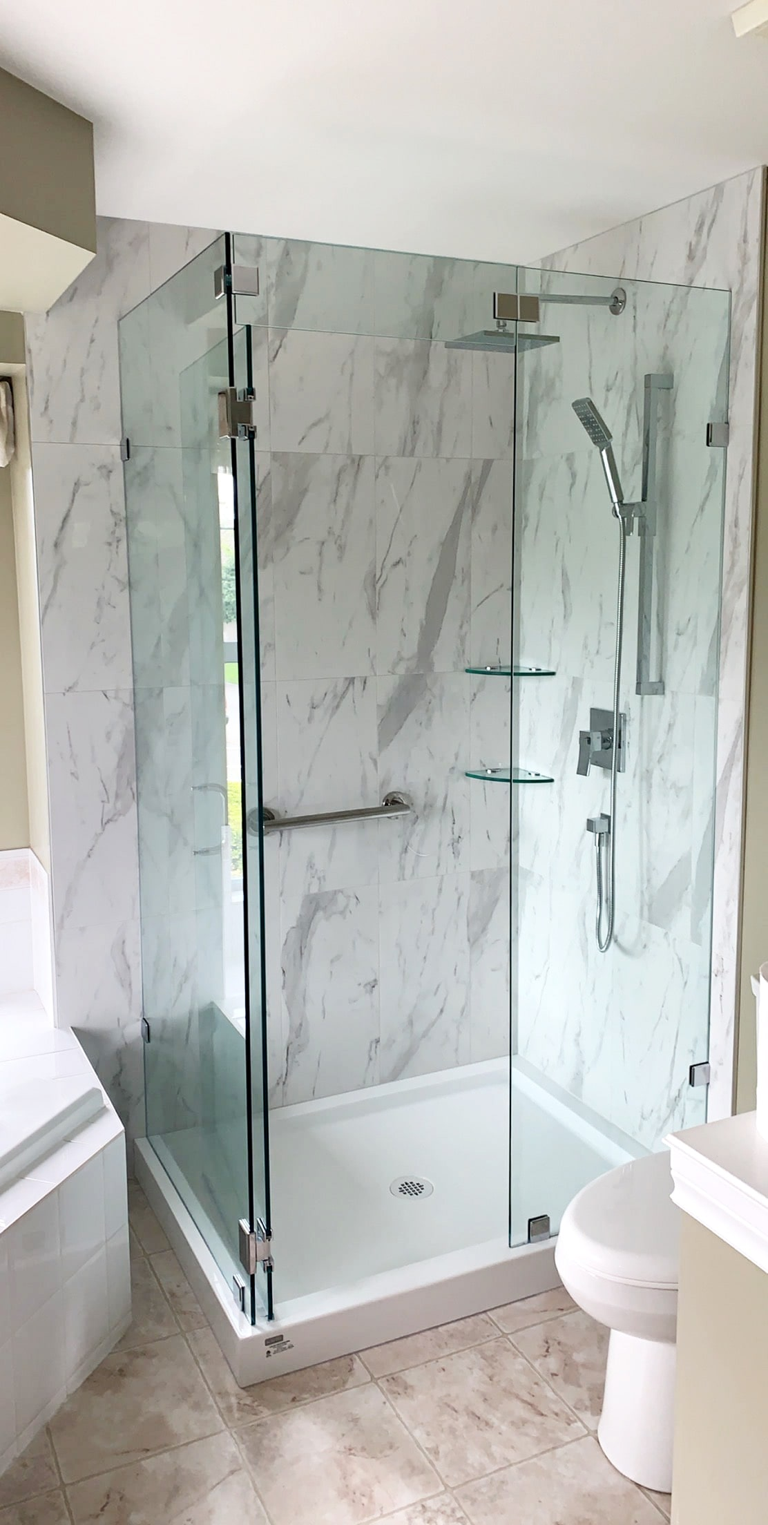 swinging shower door